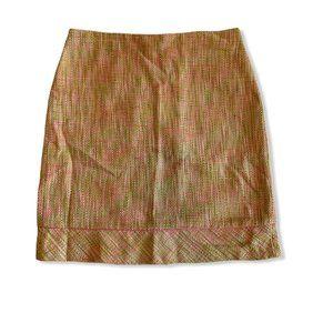 NWOT Sigrid Olsen Sz 8 Skirt Straight Lined